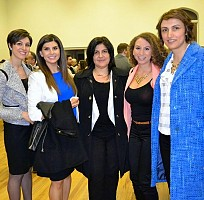 2015 marked a special year at Saint Antonios owing to the election of the first female president of the Parish Council (Affaf el-Jakl, right).