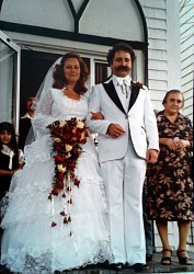 At the Church's first Sunday service, the first wedding took place (Linda & Bassam Nahas).