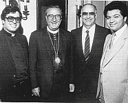 Fr. Elia Shalhoub, Metropolitan Philip Saliba, Ernest Saykaly, Rafat Nasrallah (2011 recipient).