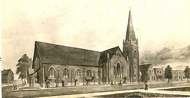 Early sketch of the 2nd St. Matthias Church