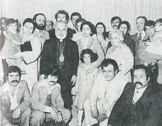 Metropolitan Elia Saliba officiated the first sunday service and wedding at Saint Antonios (1980).